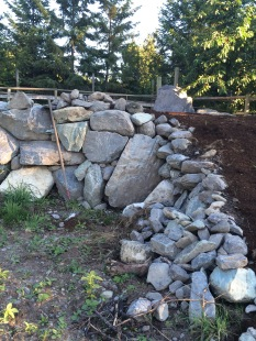 Part of the vineyard project, a rock area for tasting, cheese, fruit and wine. Not completed, yet.